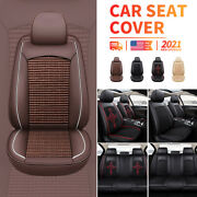 5 Car Seat Covers Full Set With Waterproof Leather Universal For Most Sedan Suv