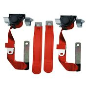 Seatbelt Solutions Premium Series 3-point Front Seat Belts Flame Red