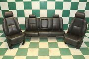 07-13 Gm Truck Crew Southern Comfort Leather Dual Power Bucket Seats Backseat