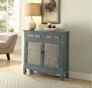 Acme Winchell Console Table In Antique Blue Finish 97245