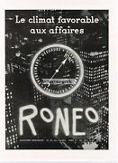 1950 Roneo Office Machines Copier French Language Art Vintage Ad