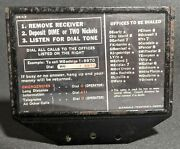 Original 1950s Metal Pay Phone Information And Dialing Sign 3 Slot Payphone