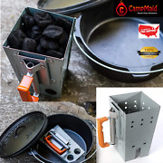 Outdoor Cooking Compact Rapidfire Bbq Grill Charcoal Chimney Starter Holder Oven