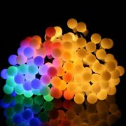 Ball Led String Fairy Lights With Battery Box Warm Christmas Holiday Wedding