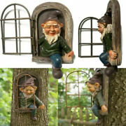 Tree Decoration Leave The Door/window Gnome Whimsical Tree Face Statue Ornament