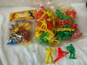 Vintage Plastic Cowboys And Indians Figures Toy Lot 1972 Multiple Toy Makers
