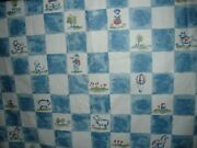 Bloomcraft Fabric Blue White French Country Farmhouse Polished Cotton Animals