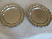 Wilton Armetale Queen Anne Glossy- Set Of 2 - 10 1/2 Dinner Plates