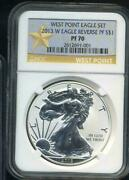 2013-w Silver Eagle Rev. Proof From West Point Eagle Set