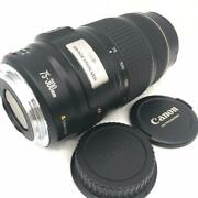 Telephoto Lens With Canon Image Stabilization Ef75-300mm Is Usm