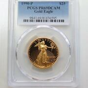 [1990 Pr69] Gold 25 Us Dollars Eagle Gold Coin 1/2 Pcgs
