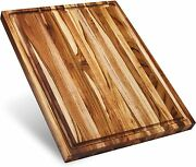 Large Wood Cutting Board With Juice Groove Reversible Gift Box Included