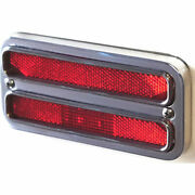 Eddie Motorsports Ms275-87rcl Red Led Marker Light And Bezel Kit 1967-72 Chevy C