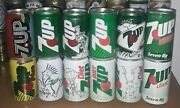 12 Nice Empty Soda Cans From 7up And Diet 7up Vintage Series