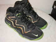 2013 Mens Nike Air Pippen Camo Black/flash Lime Basketball Shoes Size 13