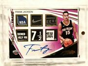 One Of Rc Patch Auto 17-18 Panini Frank Jackson Rookie Sign Nba