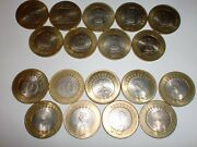 - India - 9 Rupees Ten Coins 2008-2018-except 2009and2017two Designs 11cq2