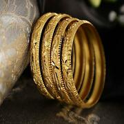 Set Of 4 Latest One Gram Gold Plated Traditional Bangles For Women Girls A299