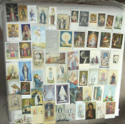 60 Holy Cards Blessed Virgin Mary Vintage And Contemporary All Different Veryclean