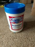 Budweiser Yellow Popcorn Plastic Container 32 Oz