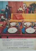 1957 Lenox Fine China Of Your Own Wheat Pattern Vintage Color Ad