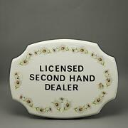 Australian Pottery Bespoke Plaque Hp Flowers And Licensed Secondhand Dealer