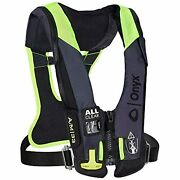 Onyx Impulse A/m 33 All Clear W/harness Auto/manual Inflatable Life Jacket -