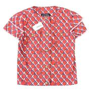 Coco Beach Cotton Short Sleeve Jacket Red No.6998
