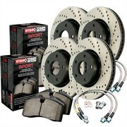 Stoptech 979-34069 Sport Brake Kit Drilled Front And Rear Incl. Rotors Pads And