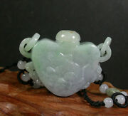 Certified 100 Natural A Jade Jadeite Pendant Mouse Snuff Bottle W Ring 370205