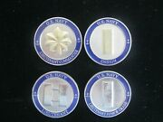 Lot Of 4 Us Navy Lt Commander Challenge Coin Military Engraved To Same Officer
