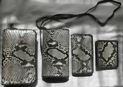 Authentic Python Snakeskin Handmade Purse, Wallet, Planner And Checkbook Cover