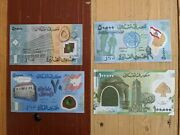 Lebanon Four Polymers Set Unc P-96, -97, P-98 And P-99, 50000 And 100000 Livres