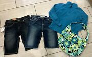 Womens Silver Jeansbkenorth Facethirty One Shortsandhellip.pullover And Bag Sz 29