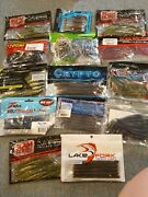 Lot Of 14 Packs Assorted Worm Soft Plastic Fishing Lure Baits Worms With Tails
