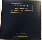 Eisenhower Dollar Coin Collection Postal Commemorative Society 18 Coins In Album