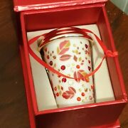 Rare Starbucks Crystal Coffee Cup Limited Edition Christmas Ornament