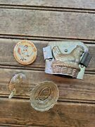 Lot Of 3 Vintage Mini Chicken Hen On A Nest Salt Cellar Chocolate Mold And Pin