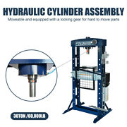 H-frame Pneumatic Air Hydraulic Shop Floor Press With Hand And Foot Pump Pedal
