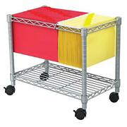 Safco Products Wire Mobile Letter/legal File Cart 5201gr Gray Powder Coat Fin...