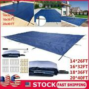 Pool Safety Cover Rectangle Winter In-ground Swimming Pool Mesh Solid Cover Us