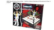 Wwe Raw Wrestling Ring Carlito Andndash Carlitoand039s Cabana Standees And Microphone And Chair