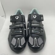 Womens Size 9.5 Bontrager Solstice Cycling Shoes W/ Shimano Cleats
