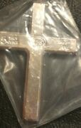 5oz Yps Cross 999+ Fine Silver Bullion Bar Yeager's Poured Silver