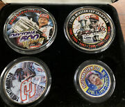 Dale Earnhardt Silver Coin Collection 01and039 And 02and039 Silver Eagle 51and039 Half And 02 Qtr