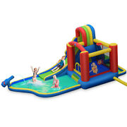 Inflatable Kid Bounce House Slide Climbing Splash Park Pool Jumping Castle With