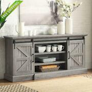 60 Farmhouse Universal Stand Console Fit Tvs Up To 65 Living Room Storage