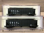 2 N Scale Atlas Trainman 90 Ton Pandle Hoppers-pittsburgh And Lake Erie 40465 40466