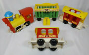 Vintage Fisher Price Circus Train No. 991 Little People Locomotive And Animal Cars