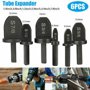 6pcs Air Conditioner Copper Tube Expander Swaging Drill Bit Flaring Tool Z0x7